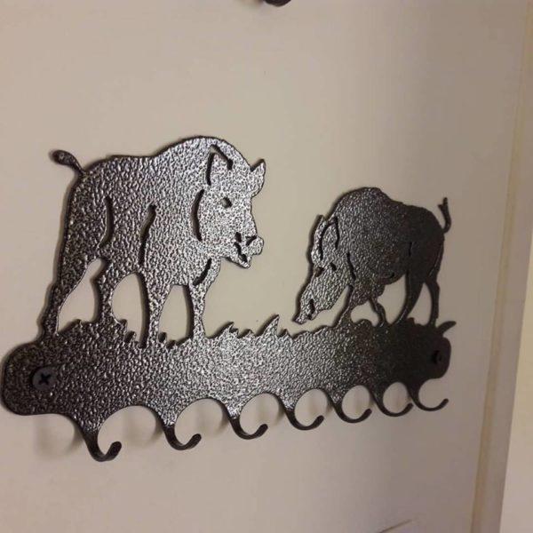 Support de porte-clefs en fonte, réf. Sanglier Fabrication artisanale française.