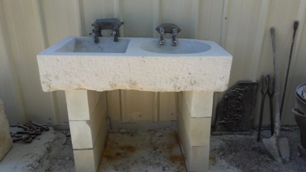old double stone sink