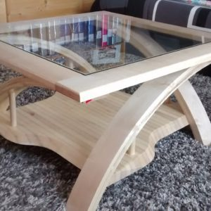 sycamore maple coffee table curved laminated legs