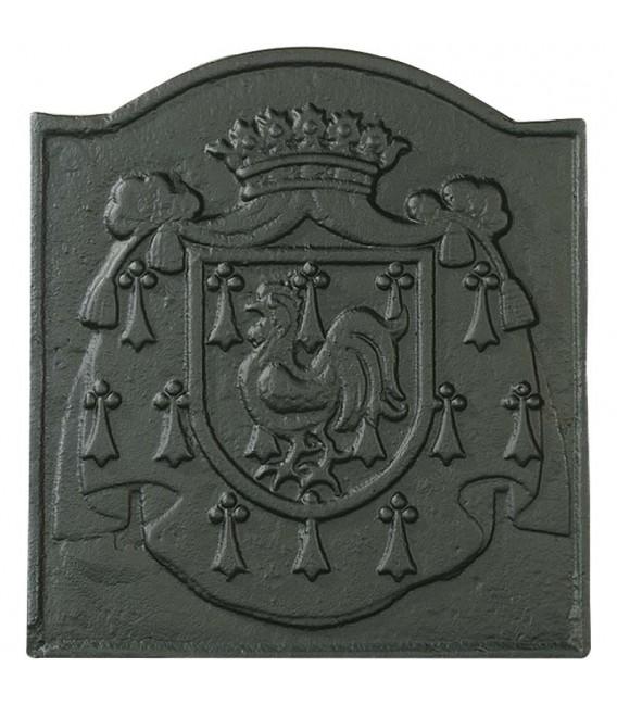 PLAQUE DE CHEMINÉE DÉCORÉE - BLASON DE FRANCE Référence: 0012 Dimensions l. 45,0cm H. 49,0cm 116,29 €