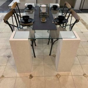 table with safety glass
