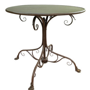 T80 - Table de Jardin ronde - pieds Griffe Dimensions: Ø800 X h700