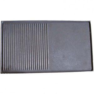 PLANCHA MIXTE EN FONTE 70 X 40 CM AVEC BORDURE ET RIGOLE Référence: 0367 Dimensions L. 70 cm l. 40 cm 127,10 €